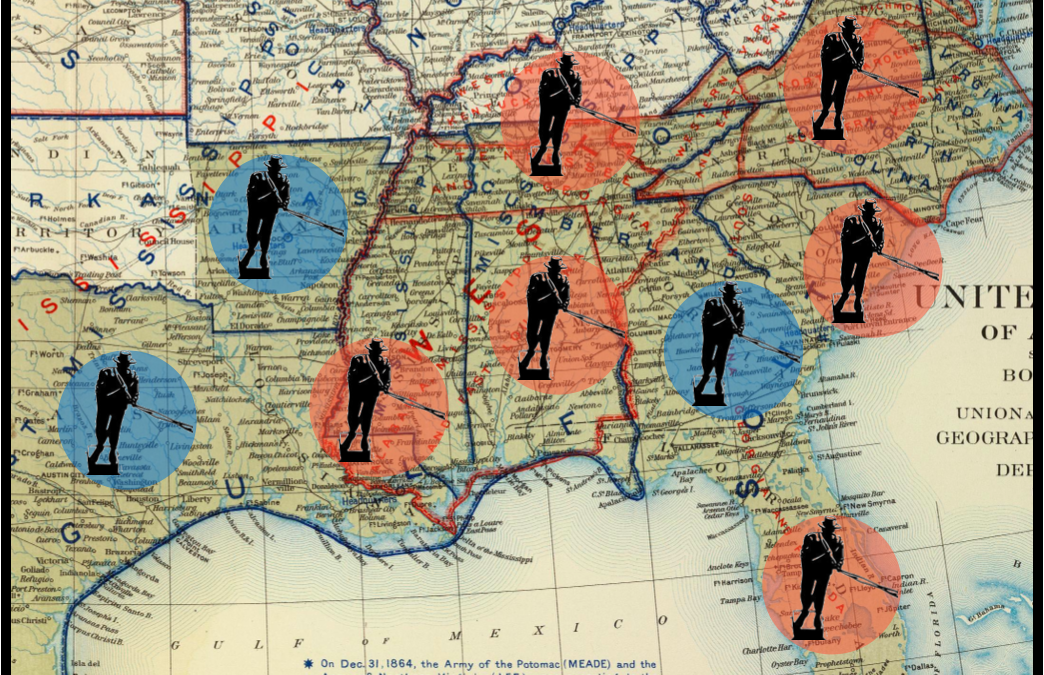 Mapping Racist Memorials Removed in the South Since the Murder of George Floyd